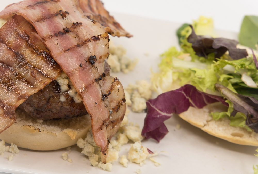 hamburguesa roquefort bacon