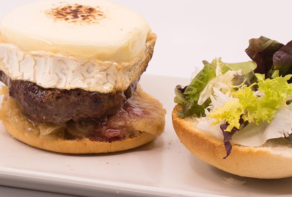 hamburguesa rulo de cabra